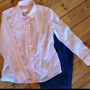 🍨Banana Republic silk+cotton summer tuxedo top L